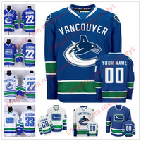 0b9c936927a Stitched Custom Vancouver Canucks mens womens youth kid OLD BRAND royal  Blue White Third Ice Hockey Personalized cheap Any Name Jersey S-4XL