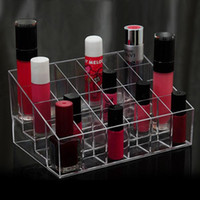 Wholesale 24 Clear Makeup Cosmetic Lipstick Holder Organizer Storage Display Stand New
