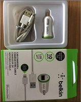 belkin car charger iphone - NEW mini belkin car charger for iphone5 s c ipad mini with cable retaix box