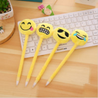 Wholesale Kawaii Cute Emoji Caneta Funny School Supplies Ballpoint Pen Oficina Stationery Pens For Writing