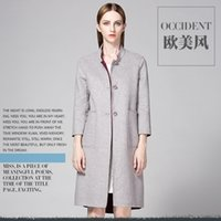 australian wool clothing - Autumn and winter in Europe and the brand of women s clothing of Australian wool double coat high end ol female long trench coat