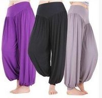 belly dance yard - Long Yoga Elastic Waist Pants Bloomers Pants Loose Pants Belly Dance Boho Trousers Plus Size bloomers Big yards yoga suit