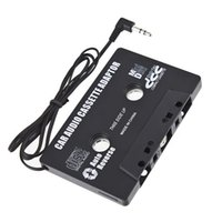 Wholesale Audio Car Cassette Tape Adapter Converter MM For Iphone Ipod Phone MP4 MP3 AUX CD