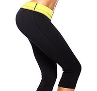 Wholesale Hot Shapers Women Slimming Pants with Tummy Control Super Stretch Neoprene Sport Fitness Leggings Gym Pants Body Shaping Self heating