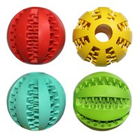 Wholesale 2 Inch Rubber Balls Pet Dog Toys Ball Chew Toys Tooth Cleaning Balls Food Toy Ball for Dogs
