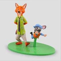 Wholesale 11 cm Zootopia Animals Action Figure Toys Rabbit Judy Hopps Fox Nick Wilde Cartoon Movie Kids Gift Collection Figures