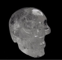 art statue - 2 quot Quartz Rock Crystal Carved Realistic Crystal Skull Reiki Crystal Healing Statue