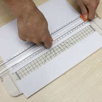 acrylic plastic ruler - Best Price New White A4 Plastic Cutter Guillotine Alignment Ruler Daily Typical Paper Label Cutter Trimmer