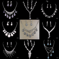 accessories jewellery style - 9 Style Generous Bridal Jewelry Crystal Rhinestones Bride Prom Wedding Jewellery Sets Necklace Drop Earrings Bridal Accessories New