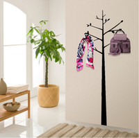 Wholesale Wall Mounted Growing Tree Wall Coat Stand Hat Jacket Scarf Bag Holder Hanger Rack Home Decoration