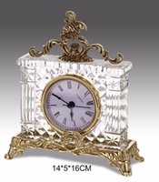 antique brass clocks - Italian Style Home Decorative Table Clock Classical Brass with Crystal Desk Clock