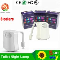 battery operated devices - Battery Operated LED Motion Sensor Toilet Night Light colors in one device Bathroom Lamp Original lightbowl DHL