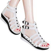 belt buckle covers - Summer Rivet Thin Belt Buckle Large base shoes Women Sandals Open Toed High Top Sexy Gladiator Sandals Women Black white Sliver