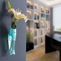 Wholesale 20pcs LJJG181 Wall Hanging Vase Wall Mounted Fish Shaped Flower Vase House Decration cm
