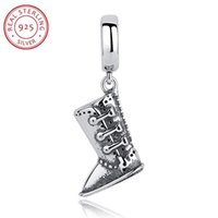 Wholesale 3pcs Sterling Silver Dangle Pendant Charm Troll Beads Snow Boots Fit Pandora Bracelet Bangle Necklace Snake Chain DIY Jewelry C029