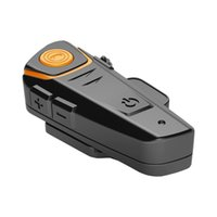 Wholesale 1000M Riders Bluetooth Motocycle Helmet Headset Wireless Mp3 FM GPS Intercom Interphone Motorbike