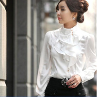 Wholesale fashion European and American Hot sexy emulation silk blouses collar t shirt shirt S XL