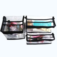 Wholesale professional clear waterproof plastic salon beauty makeup cosmetic storage organizer pouch with handle zipper in stock