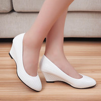 b head set - Summer new round head light mouth set foot wedge heels low help shoes for women s shoes work shoes of the four seasons