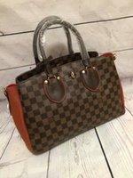 Wholesale 2016 new Fashion famous brand bag Lady s handbag Casual louis NORMANDY women s checked brown shoulder bag messenger bag high quelity N41487