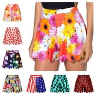 Wholesale 2016 Girls Cute Culotte Designs D Printing Skirts Pants Children Girls Knee Length Pantskirts Big Kids Casual Wide Leg Pants