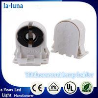 adjustable lamp holder - DHL Fluorescent T8 Light Socket Base Holder AC100 V Hz for T8 LED Bracket Lamp White adjustable elastic
