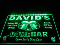 bar light box - DZ001 Home Bar Beer Family Name LED Neon Light Sign light box menu board box drawer