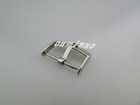Wholesale 16mm mm mm New HQ Silver Polished Watch Band Strap Pin Buckle For Omega Watch