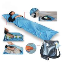 Wholesale Lightweight Warm Roomy Sleeping Bag Liner Travel Sheet Sleep Sack Rectangular x70cm Comfortable for Travel Youth Hostels Picnic Planes