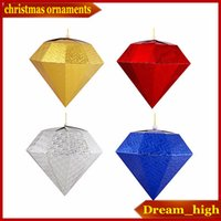 venda por atacado christmas decorative ornaments-enfeites de diamante de Natal Festival ornamentos decorativos Shopping encanto Bola de Natal do diamante celebração do feriado decorações Cristmas Presente