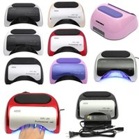 Wholesale Professional W LED Auto Sensor Nail Cure Lamp UV Gel Dryer For Gel Polish Manicure Nail tools