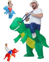 Wholesale Inflatable Dinosaur Costume Fan Operated Adult Kids Size Halloween Cosplay Animal Dino Rider T Rex