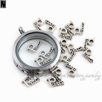 Wholesale No Design Custom jewelry charms New silver Alloy enamel Princess letter floating locket charms for living memory lockets