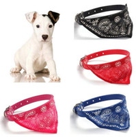 bandage cloth - New Brand Cute Pet Dog Cat Puppies Triangular Bandage Pet Dog Collars Scarf Neckerchief Dog Accessories Colors b137