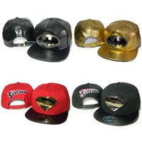 batman cap sale - Hot Metal Logo Batman Superman Snapbacks Hats Suprem Men Women Superm Snapback Hat Camo Baseball Caps Hip Hop Leopard Sale