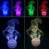 Wholesale hot sale creative design spiderman colorful night light USB power table light multiple color for option
