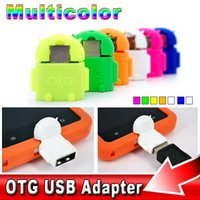 Wholesale mini Hot Sale Universal Android Robot Micro USB OTG Cable Host Adapter for Samsung Galaxy S3 S4 S5 S6 Note for HTC for Sony