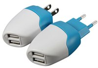 ac dolphins - Mili Dolphin Mini USB Dual Port EU US Wall Charger AC Home Travel Charger Adapter For iPhone Samsung iPod iPad Smartphones Tablets