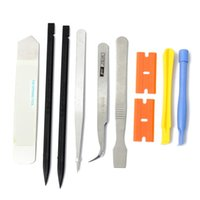 Wholesale Professional In Smart Phone and PC Opening Pry Repair Kit Tools Cellphone Repairing Screwdriver Metal Spudger Set