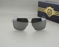 aluminum flight case - 18K Shiny Plating top quality Dita Flight brand sunglasses men women Square Shape luxury sunglasses with logo and Original Case