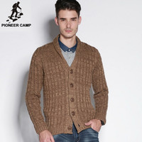 best sweaters men - Pioneer Camp autumn new fashion mens cardigan sweater casual mens coat cardigan cotton men knitwear sweater best gift