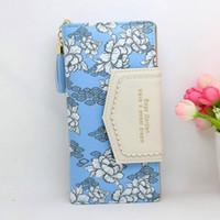 best designer wallets for women - New brand Designer Women Wallet Bags Best Leather Floral Clutch Purse Lady Long Handbag Bag Colors For Woman