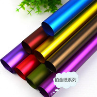 Wholesale christmas gift wrap one cm The new solid color platinum paper High grade flowers wrapping paper FD07