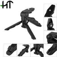 Wholesale Rotation Desktop amp Handle Stabilizer Mini Tripod for Mobile Phone Camera With Cell Phone Holder and Tripod Adapter