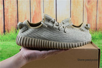 Cheap With Box Adidas Yeezy Boots 350 Men Women Running Shoes Yeezys Boost Cheap 2016 New Hot Sale Sports Shoes Oxford Tan Free Shipping