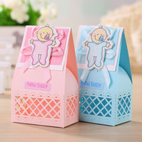 baby boy paper - Hot Sale Baby Shower Shape Baby Boy Girl Marriage Box Wedding Favor Boxes Gift Candy Boxes Event Party Supplies