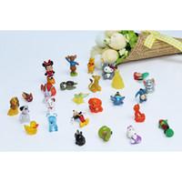 Wholesale 200pcs Many designs Mini Cartoon Anime Figure Dolls Small Animals Capsule Toys PVC Mini Toys for Children Fit for mm eggshell