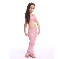 Wholesale 4 Colors Girls mermaid bathing suit Girls bikini mermaid swimsuit three piece suit Girsl swimsuit Kids swimsuit LA216