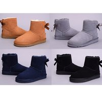 australian sheep skin - High Quality Brand Australian Sheepskin Wool Sheep Skin Fur Snow boots Women winter boot cotton boots color US