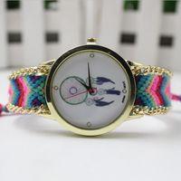 airs fashion watches - 2016 Multicolor Handmade Braided Air Balloon Bracelet Watch Rope GENEVA Ladies Women Quartz Watch Colors